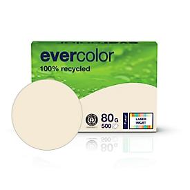 Farbiges Kopierpapier EVERCOLOR, DIN A4, 80 g/m², hellchamoisgelb, 1 Paket = 500 Blatt