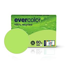 Farbiges Kopierpapier EVERCOLOR, DIN A4, 80 g/m², lindgrün, 1 Paket = 500 Blatt