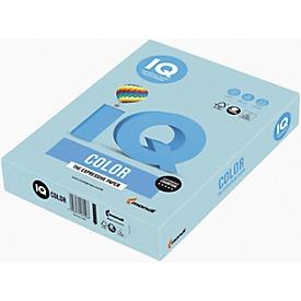 Farbiges Kopierpapier Mondi IQ Color Pastellfarbe, DIN A4, 120 g/m², mittelblau, 1 Paket = 250 Blatt
