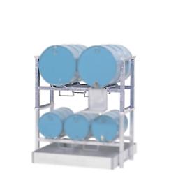 Fass-und Stapelpalette, für 2 x 200 l Fässer