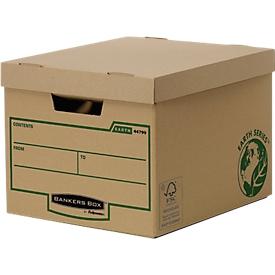 Fellowes archiefbox Bankers Box® Earth Heavy Duty, bijzonder stevig, met deksel, 100% gerecycled karton, 10 stuks