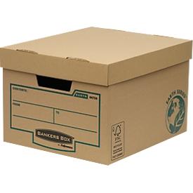 Fellowes Archivbox Bankers Box Earth, aus Karton, doppelt verstärkter Boden, 10 Stück