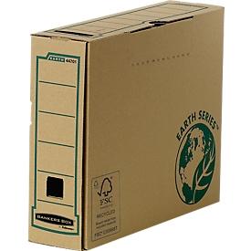 Fellowes Archivschachtel Bankers Box® Earth, DIN A4, Rückenbreite 80 mm, 20 St