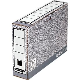 Fellowes Archivschachtel Bankers Box®, f. DIN A4, Füllhöhe 80 mm, 10 Stück
