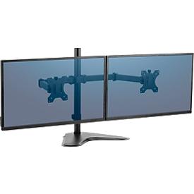Fellowes dubbele arm Professional, vrijstaand, voor 32 inch beeldschermen, flexibel instelbaar