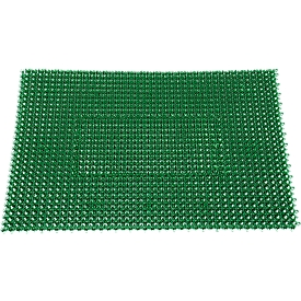Felpudo atrapasuciedad Step In, de polietileno, para interior y exterior, 570 x 860mm, verde