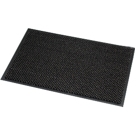 Felpudo de microfibra, An 600 x L 900mm, lavable a 30grados, gris