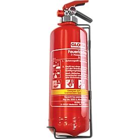 Fettbrand Feuerlöscher Gloria FBDP2, DIN EN 3 für Brandklassen A/B/F, Volumen 2 l, Spritzweite 2 m, mit Manometer, rot