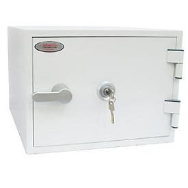 Feuerschutzschrank FS 1281 K, mit Schlüsselschloss, Stahl, signalweiß RAL 9003