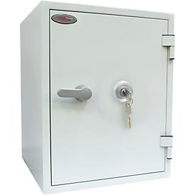 Feuerschutzschrank FS 1283 K, Schlüsselschloss, Stahl, signalweiß RAL 9003