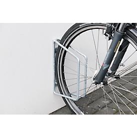 Fietsrek WSM 3600, thermisch verzinkt staal, wandmontage, voor bandbreedte tot 38 mm, 5 stuks