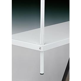 FIX UP-Fußstück, 120 mm lang, rund, lichtgrau