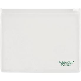 Flachbeutel FolderSys, Gleitverschluss, PVC-frei, lebensmittelgeeignet, Folie transparent, Format B6, 10 Stück