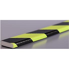 Flächenschutz Typ F, 5-m-Rolle, gelb/schwarz, tagesfluoreszierend