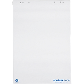 Flipchart-Block mit Recyclingpapier, 5 x 20 Bl., 80g, blanko