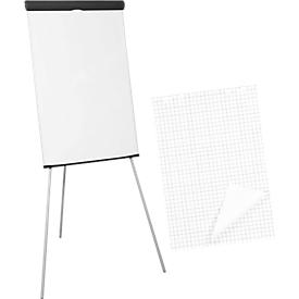Flipchart standaard + 5 x 20 vellen flipoverpapier, gratis