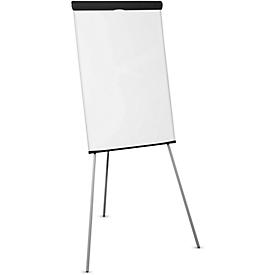 Flipchart standaard MAULOffice, in hoogte verstelbaar tussen 118,5 cm en 195 cm, met 3 metalen poten
