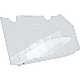 Folderetages, helder acryl, voor 2 x DIN lang