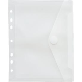 FolderSys documenthoes, A5, klittenbandsluiting, geperforeerde rand,