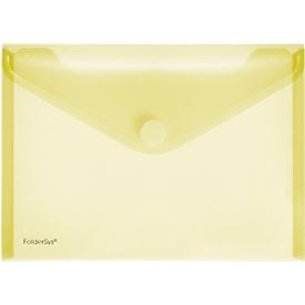 FolderSys documenthoes, A5 liggend, klittenbandsluiting, PP, geel