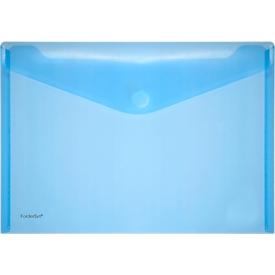 FolderSys Dokumententasche, DIN A4 quer, Klettverschluss, PP, blau