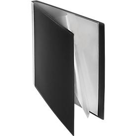 FolderSys PP presentatiemap, voor A4-formaat, 40 zichtmappen, zwart