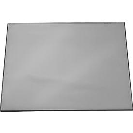 Folie-schrijfonderlegger met transparant dekblad, grijs