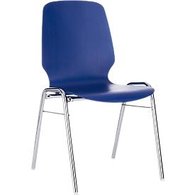 Formschalenstuhl 710, Sitzschalenform gerundet, blau
