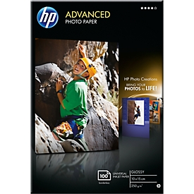 Fotopapier HP Advanced, hochglänzend, 10 x 15 cm, 100 Blatt