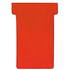 FRANKEN T-Karten, für Stecktafel, Größe 1, rot