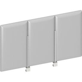 Frontpaneel bureau boven, grijs, B 600 mm