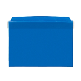 Fundas magnéticas Orgatex, c. puerta, A5 transversal, azul, 50 uds.