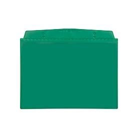 Fundas transparentes Orgatex, A6 transversal, verde, 50 uds.
