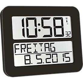 Funkuhr Time Line MAX, schwarz