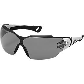 Gafas de seguridad Uvex pheos cx2, EN 166, EN 172, policarbonato gris, montura negra/blanca, 5 piezas