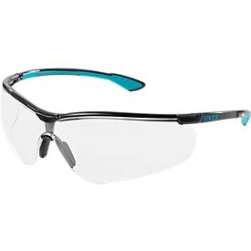 Gafas de seguridad uvex sportstyle, negro/petróleo, 5 piezas