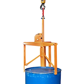 Garra para barriles 3P, alcance de sujeción de 270 a 680mm, naranja (RAL 2000)
