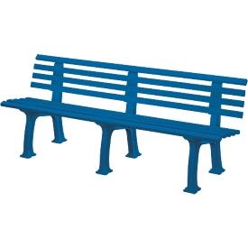 Gartenbank, 4-Sitzer, L 2000 mm, blau