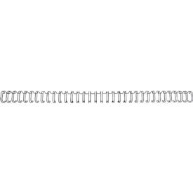 GBC Drahtbinderücken WireBind, A4, 34 Ringe, 8 mm für max. 70 Seiten, 100 Stück, schwarz