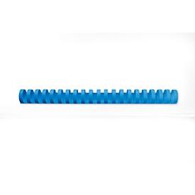 GBC® inbindruggen, plastic, Ø 25 mm, 50 st., blauw