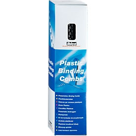 GBC® inbindruggen, plastic, Ø 8 mm, 100 stuks, zwart