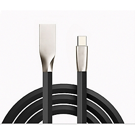 Gegevens-/oplaadkabel Felixx, type-C, PU-vlakke kabel, L 3 m