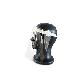 Gelaatsmasker, met vizier, in maat verstelbaar, gemaakt van polypropyleen/plastic, wit/transparant