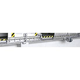 Geleiderail, voor aluminium-laadbruggen type SKB, blank gewalst