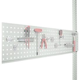 Geperforeerde gereedschapsplaat, voor tafelbreedte 1250 mm, voor serie Universal/Profi, lichtgrijs RAL 7035
