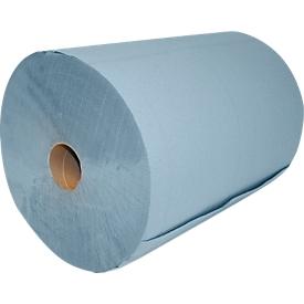 Gerecycleerd poestpapier 2-laags, blauw, 2 rollen
