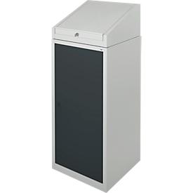 Gereedschapskast met schrijftafel, draaideur, 2 legborden, 1 lade, B 500 x D 500 x H 1200 mm, afsluitbaar, lichtgrijs/antraciet