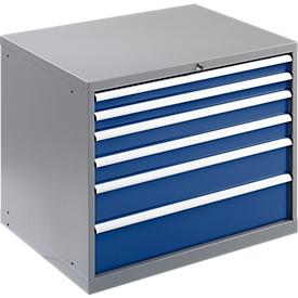 Gereedschapskast WSK 5408-6L, 6 schuifladen, 800 mm hoog
