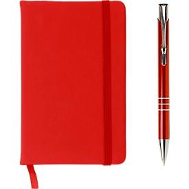 Geschenkset Comfort USB, 3-tlg., inkl. Werbedruck/Lasergravur, USB-Stick 4 GB, rot