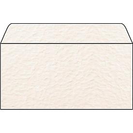 Gestructureerde enveloppen met motief Papyra, 110 x 220 mm (DL), 90 g/m², zonder venster, 50 stuks